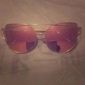 "Brand new ""pink lens"" sunglasses"